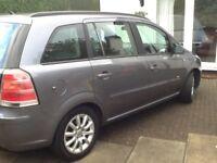 Vauxhall zafira 1.6 club. 7 seater mpv. Year2006