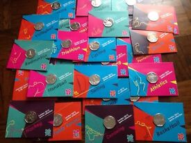 Full set of 2012 Olympic 50 pence coins.Mint and on sealed card all 29