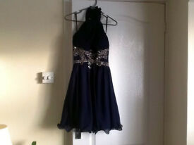 Christmas Party Dress Navy Blue Size 10