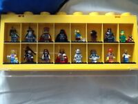 Lego bundle box and figure case with rare figures