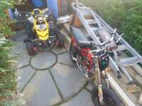 WANTED MINI MOTOS SPARES AND REPAIRS 50CC
