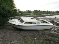TEAL 21 FOOT BOAT PROJECT WITH MARINE DIESEL INBOARD