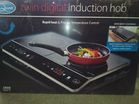 Double Digital Induction LED Hob Twin Rapid Heat System Electric