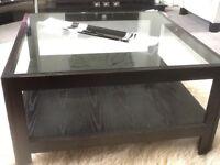 Habitat Black Ash Glass Coffee Table