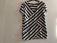 Ladies top by verve ami, size L, colour black/white