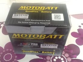 Brand new unopened motorcycle battery