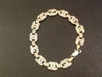 Cc 9ct gold bracelet