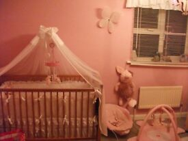 """solid pine cot /cot bed """"mothercare"""""""