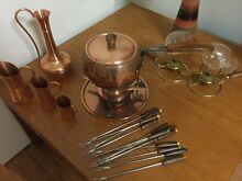 Copper Fondue Set Cheltenham Kingston Area Preview