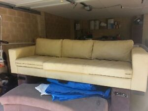 Large 3 seater leather couch Busselton Busselton Area Preview
