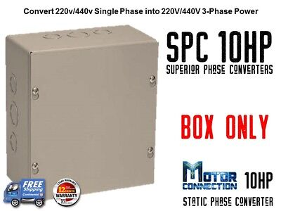 Static Phase Converter - 10 Hp - Create 3 Phase Power From Single Phase Supply