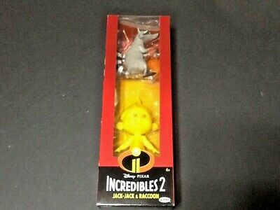 Jack-Jack and Raccoon figures  from Disney-Pixar  Incredibles 2; New In Box (Jack Jack From Incredibles)