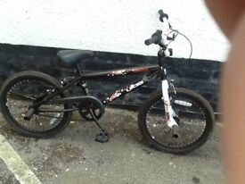 Black bmx to clear with stunt pegs £29.99