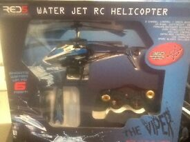 Water jet Remote controlled Helicopter.