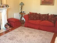 3 seater sofa plus foot stall with spare washable covers