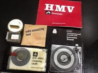 lovely retro 70's HMV Stereomaster Radiograminstructions.