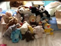 Cuddly toys selection of soft animals 20 all very good condition