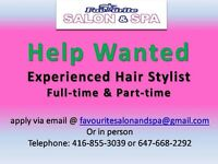 Experience Hairstylist