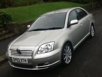 2003 TOYOTA AVENSIS 1.8 T4 SALOON WITH 1 FORMER KEEPER AND SAT NAV