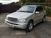 2002 Mercedes ML320, stunning car, TV, DVD, SAT NAV!!