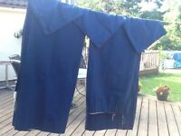 Royal Blue fully Lined curtains with matching cushion covers