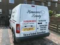 Homeward Houndz dog walking services.