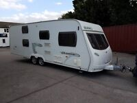 Lunar Quasar FB 6 berth caravan 2009 FIXED BUNK BED Awning, motor mover, VGC, Bargain !!!!