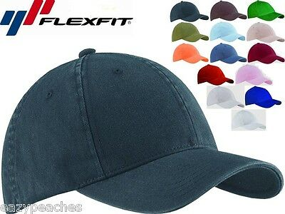 FLEXFIT Garment Washed Twill FITTED CAP Sport Hat Baseball S/M L/XL XL/2XL 6997 Twill-fitted Cap