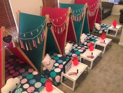 Children's Tee Pee Slumber parties from $190