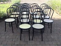 Bentwood metal chairs (14)
