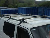 rhino heavy duty roof rack with rear roller to fit vw t4 van..