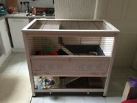 Rabbit/Guinea pig hutch - Ferplast Wooden Cottage