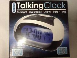 English Talking Speaking LOUD Alarm Clock sound LARGE NUMBERS