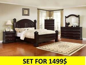 QUEEN SIZE  BEDROOM SET FROM 599$ SOLID WOOD!!!!!!!!!!!