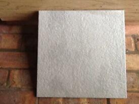 Grey 1' x 1' tiles