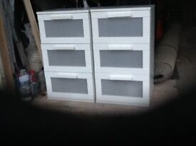 Pair of Ikea bedside cupboards