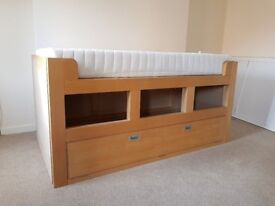Solid Pine Single Storage Bed