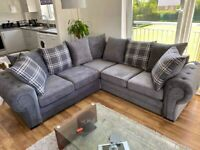 BRAND NEW LUXURY COUCH VERONA CHESTERFIELD CORNER SOFA AVAILABLE IN 3+2 SOFA SET IN GREY ORDER NOW