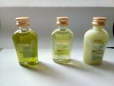 Flug Reise set kosmetik etui für Reise & Handgepäck von Pure Herbs 4- teile