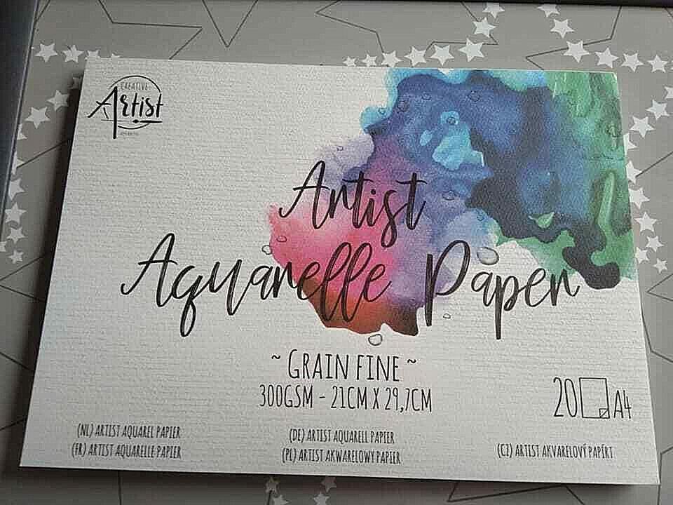 Watercolor Paper Pad -  Aquarellpapier - A 4 - 20 Blatt - 300 Gr. -