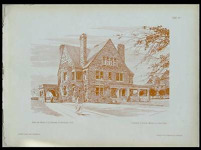 George Eastman House (ROCHESTER, GEORGE EASTMAN HOUSE - 1902 ARCHITECTURE PRINT - FORSTER WARNER)
