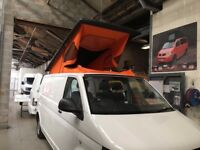 VW T5 / T6 POP TOP ROOF ELEVATING ROOF SCENIC AND COLOURED CANVAS ROOF BED M1 TESTED