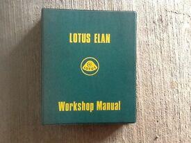 Lotus Elan Workshop manual