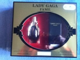 Brand New Lady Gaga Fame Black Fluid Gift Set