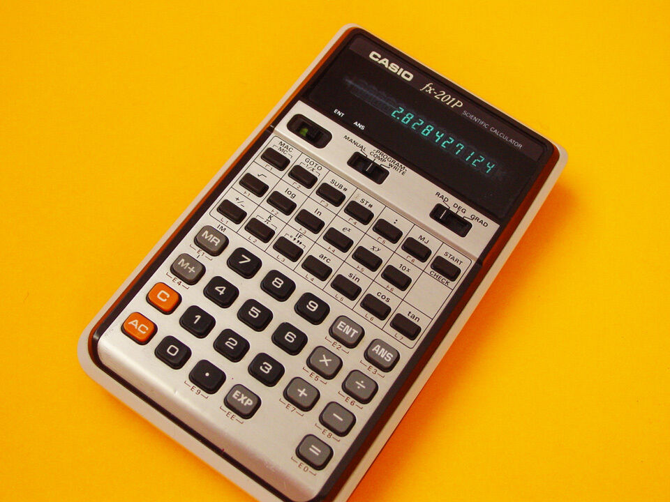 DATAMATH CALCULATOR MUSEUM - Casio fx-201P - BOLD AND PROGRAMMABLE