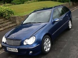 2005 MERCEDES C200 1.8 SE AUTO ESTATE ELEGANCE WITH FULL SERVICE HISTORY AND FULL LEATHER
