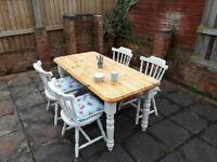 Stunning 5ft Farmhouse Dining Table 4 Chairs