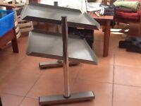 Stainless steel free standing shelf