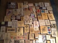 Wooden stamp collection, most never used.