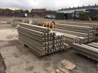 9ft concrete slotted fence posts / intermediate/ reinforced